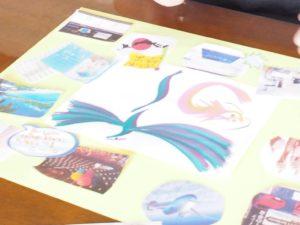 花文字,花文字アート,開運花文字,絵文字,文字アート,書道アート,筆文字,花文字体験,ビジョンマップ