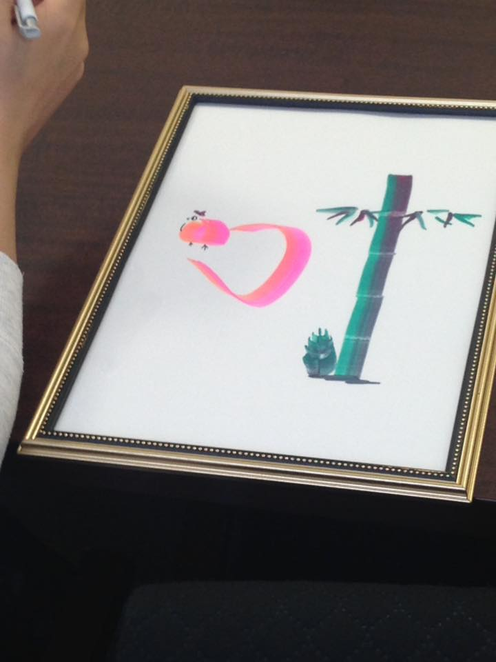 花文字・花文字アート体験レッスン大阪