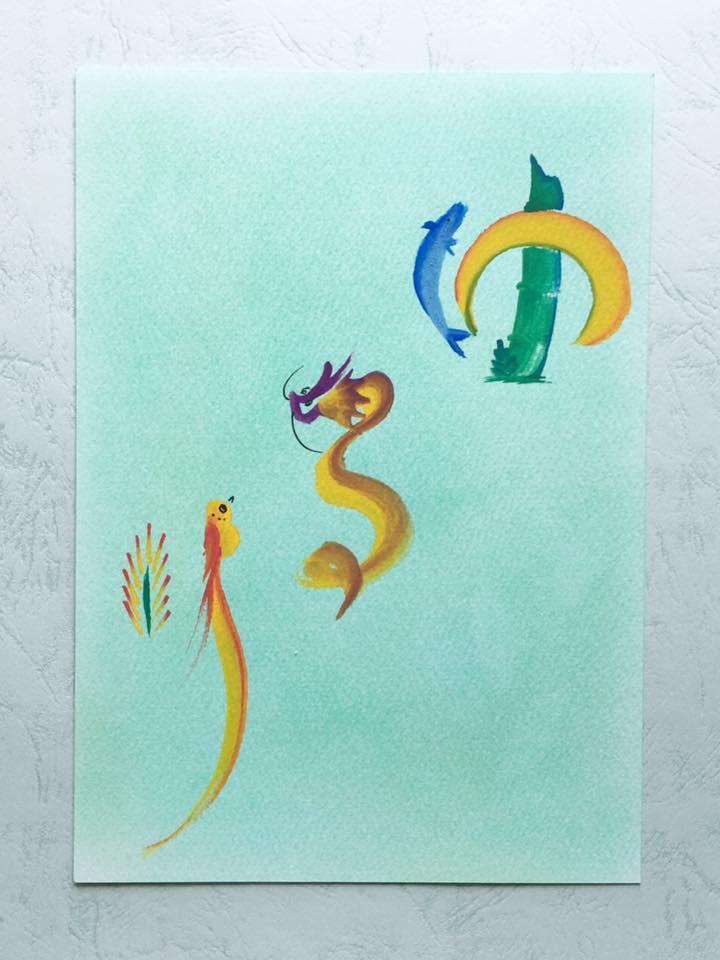 花文字・花文字アートで描く「ゆるり」