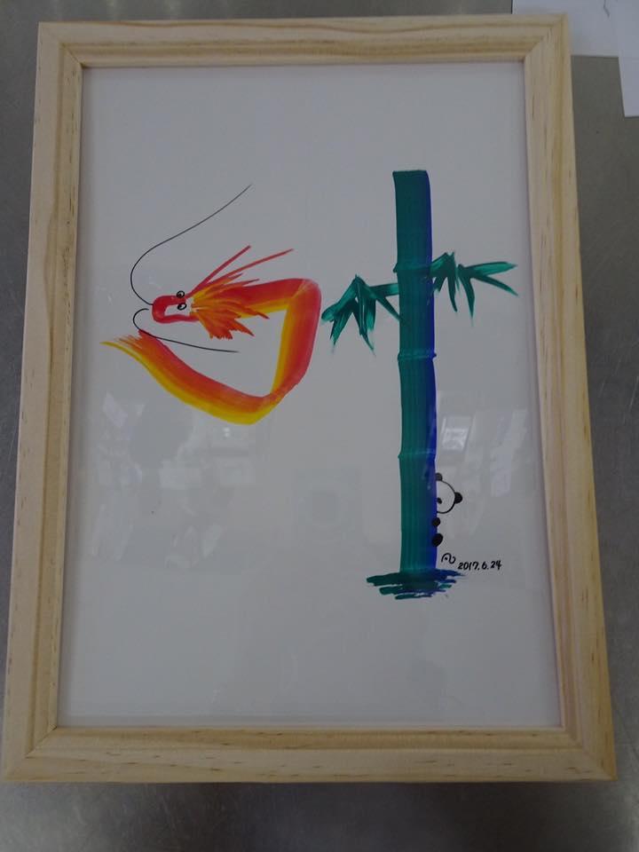 福岡開催 花文字・花文字アートレッスンに参加された方の作品