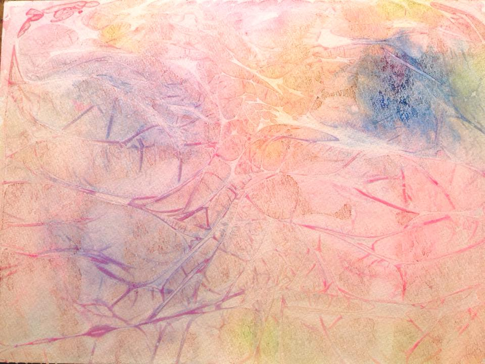 水彩絵の具で色遊び