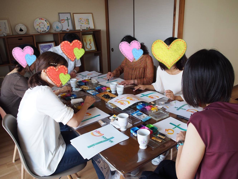 東京開催 花文字・花文字アート体験会の様子