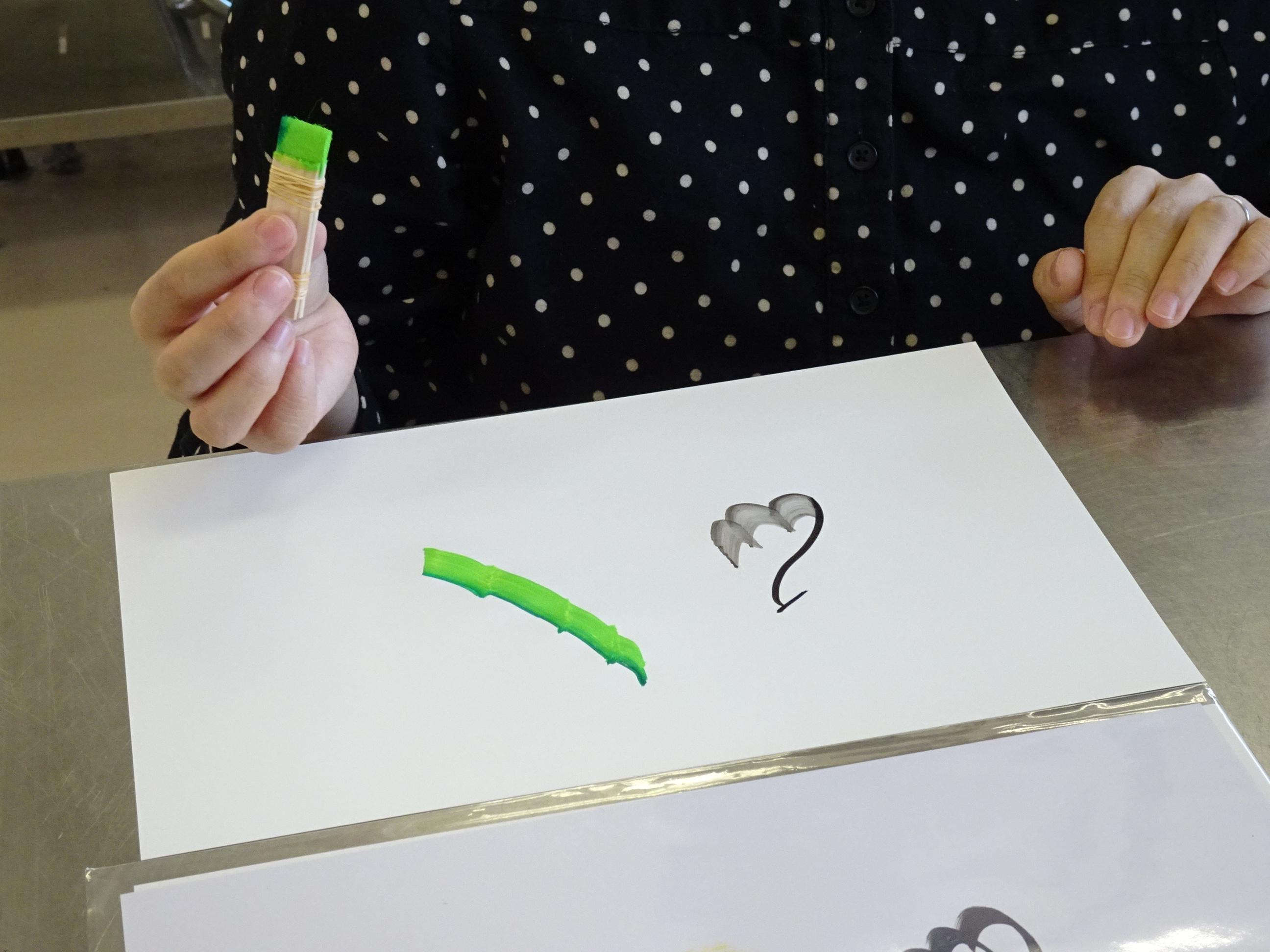 福岡・花文字・花文字アート体験会干支を描く「戌」